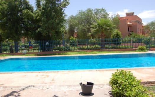 Location longue durée villa targa dans une résidence avec piscine