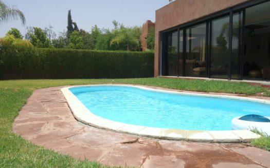 Location villa avec piscine palmeraie
