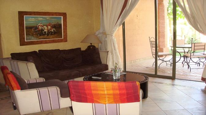 location longue dur e appartement meubl palmeraie. Black Bedroom Furniture Sets. Home Design Ideas
