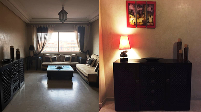 location longue durée Appartement meublé Guéliz
