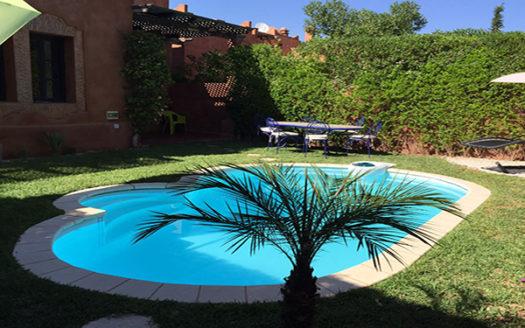 location vacance villa avec piscine palmeraie