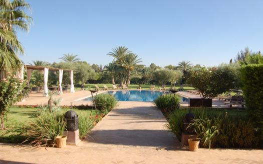 Vente villa d hote de prestige Palmeraie Marrakech