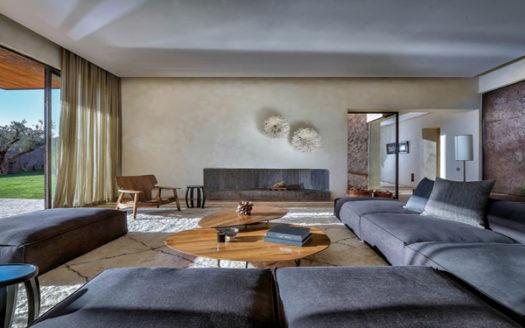 Villa contemporaine dans un domaine golfique
