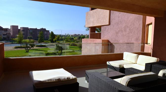 marrakesh opportunity location longue dur e appartement sur le golf. Black Bedroom Furniture Sets. Home Design Ideas