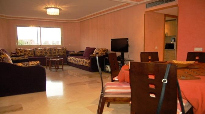 Location longue dur e appartement meubl sur route de casa - Appartement meuble paris location longue duree ...