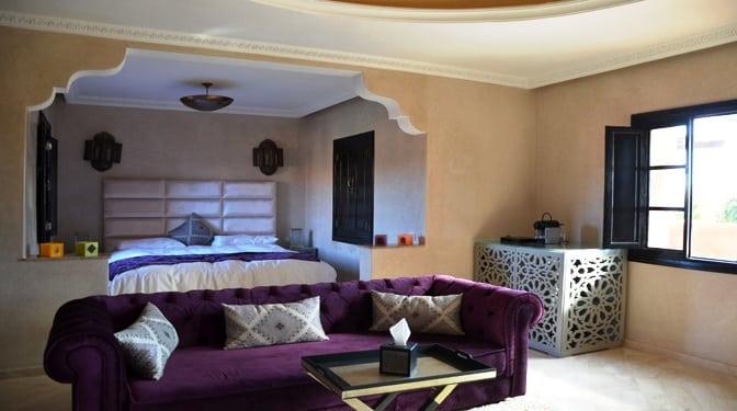 Location longue durée villa avec piscine et vue dégagé à la palmeraie