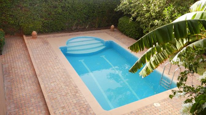 location longue dur e villa targa avec piscine privative. Black Bedroom Furniture Sets. Home Design Ideas