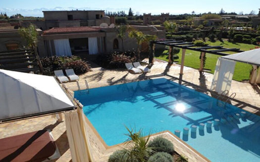 location vacance villa avec piscine Route Ouarzazate