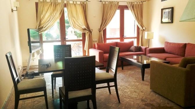 marrakesh opportunity appartement meubl e en location longue dur e. Black Bedroom Furniture Sets. Home Design Ideas