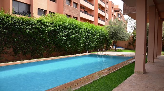 Marrakesh opportunity location appartement avec piscine for Appartement bordeaux avec piscine