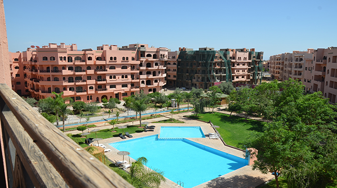 Marrakesh opportunity location appartement avec vue piscine for Location appartement avec piscine