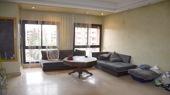 Location Longue durée un appartement lumineux, Idéalement situé au centre de la nouvelle ville de Marrakech « Guéliz » et à deux pas du prestigieux quartier