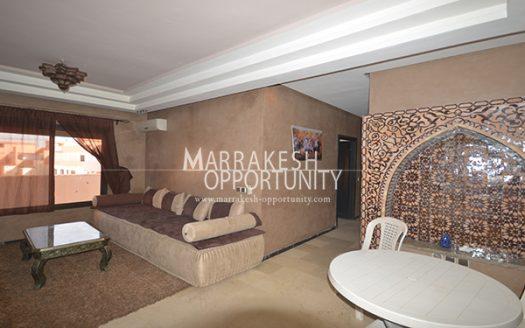 Location Appartement, Au cœur de la nouvelle ville de Marrakech , dans une résidence calme et sécurisée, proche de toutes commodités (loisirs et shoping). L'agence immobilière Marrakech opportunity vous propose un appartement meublé